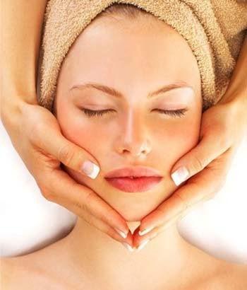 Massage i ansiktet