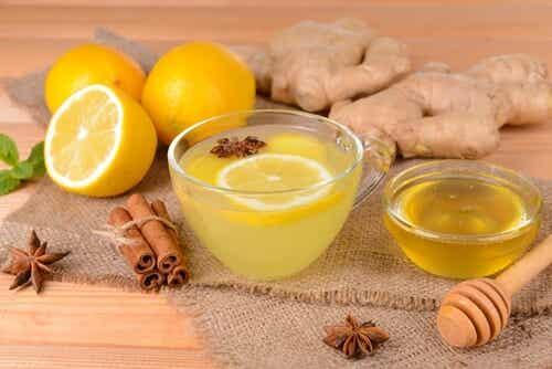 Huskur med citron, kanel och ingefära