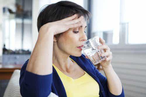 Livsmedel för kvinnor som går igenom klimakteriet