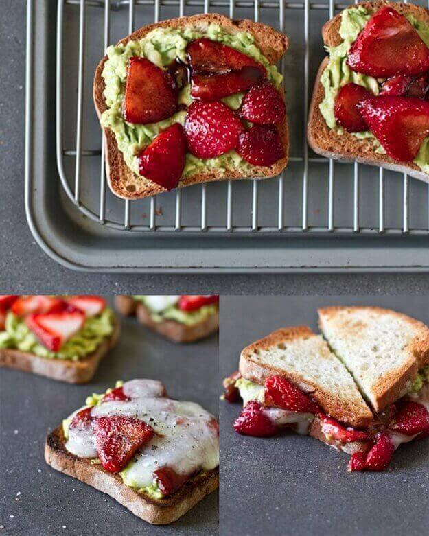 Avokado-jordgubbar