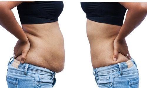 bli av med fett runt midjan