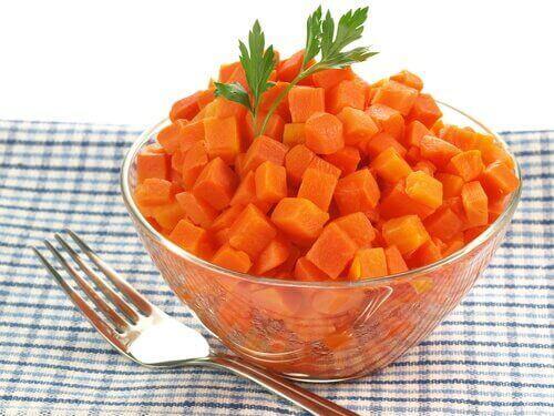 Kokta morötter