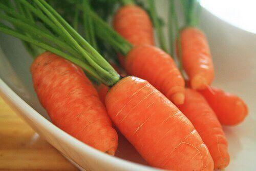 Morötter har antioxiderande egenskaper