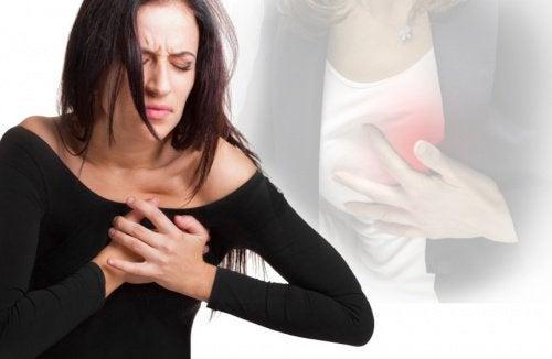 Symtom på hjärtinfarkt