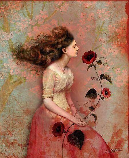 Kvinna-med-blomma