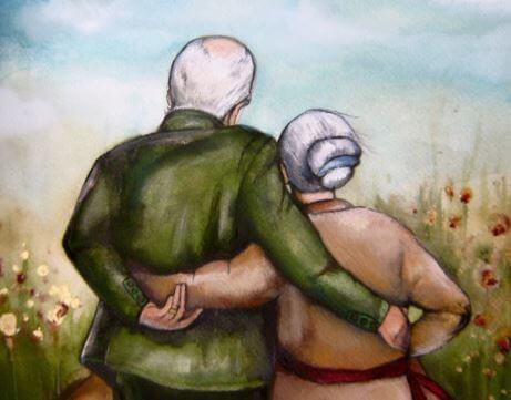 Återförenat par på gamla dagar