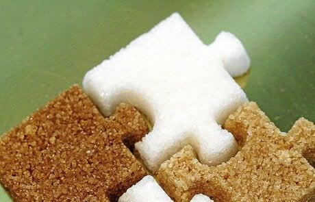 Sockerbitar som pussel