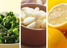 Broccoli-citron-vitlök