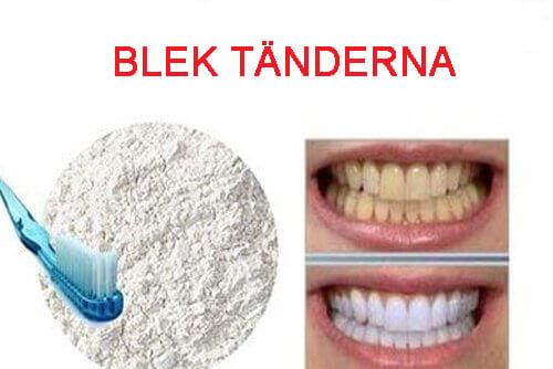 vitare tänder bakpulver citron