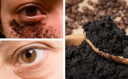 Naturlig kräm med kaffe mot mörka ringar under ögonen
