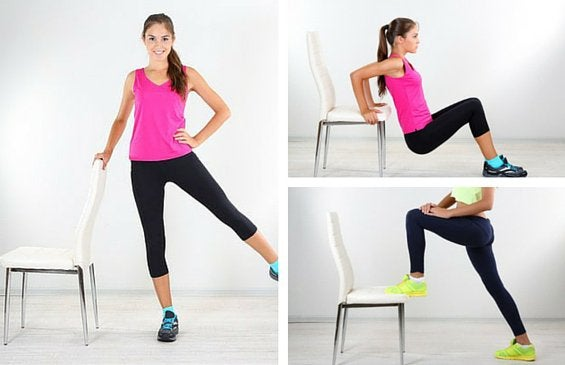 Håll dig i form med en stol! Gå inte miste om dessa 5 övningar!