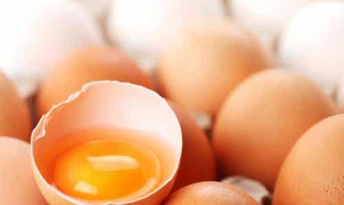 Skönhetsbehandlingar med ägg för hud och hår