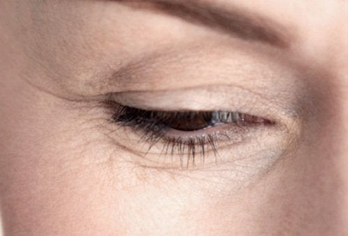 Öga och rynkor