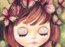 Barn-med-fjärilar