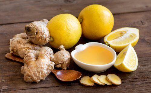 Citron-ingefära-honung