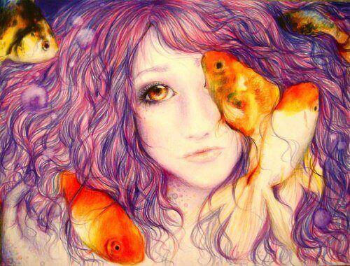 Guldfisk-och-kvinna