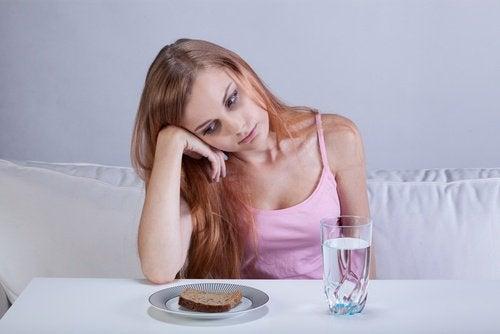 Kvinna utan matlust