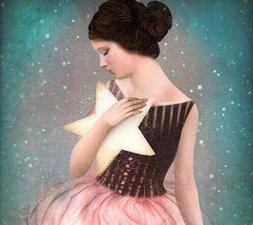 Kvinna-med-stjärna