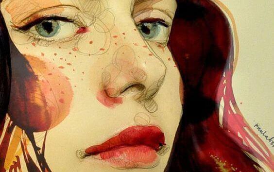 Målad-kvinna