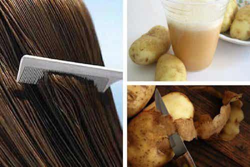 Använd potatissaft för att främja hårväxt