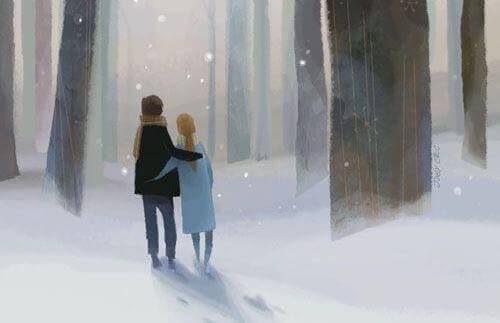 Promenad-i-snön
