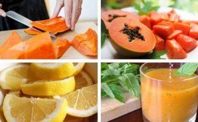 Avgifta magen med citron- och papayasmoothie