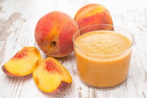 persika i smoothie