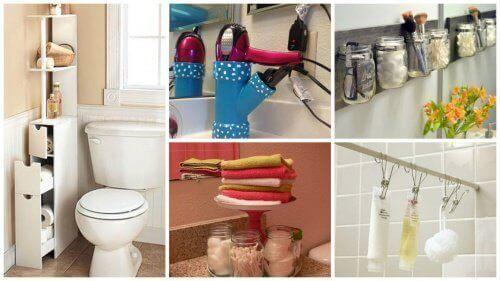 19 tips för att spara utrymme i badrummet