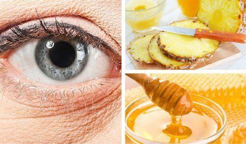 Naturlig ananasmask mot rynkor under ögonen