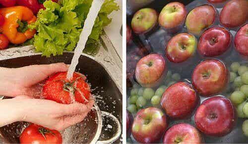 Hur du sköljer bekämpningsmedel från frukt och grönsaker