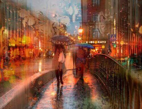 Regn i stad