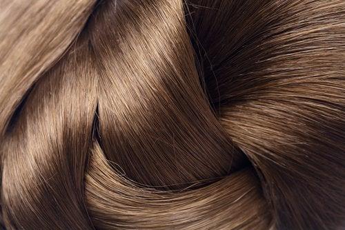 silkeslent-hår