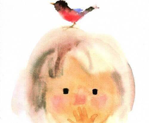 Fågel på barn