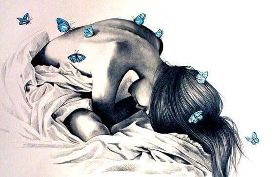 Kvinna-och-fjärilar