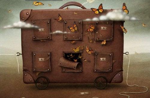 Resväska-med-fjärilar