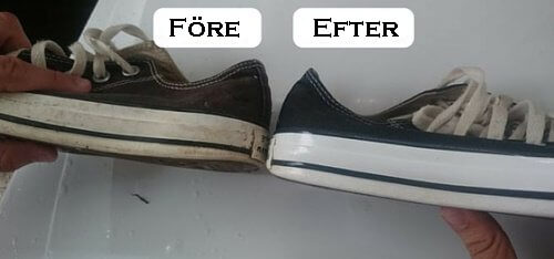 Tips för att bleka vita skor i hemmet