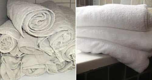 Ett trick för att få gamla handdukar att se ut som nya