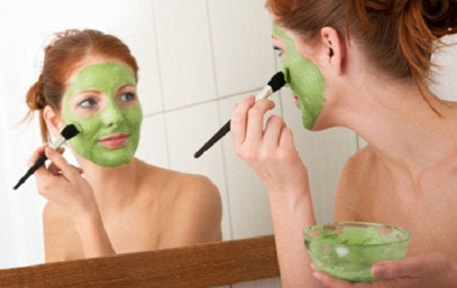 Grön mask