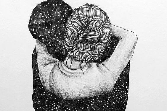 Krama mig så hårt att det krossar min osäkerhet