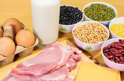 Proteinrik mat motverkar slappare hud