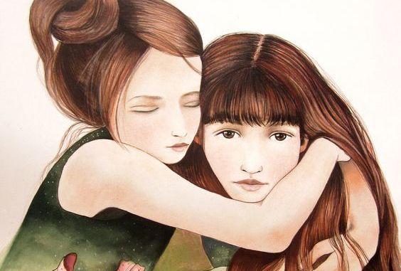 En syster är mer än en vän, hon är halva ditt hjärta