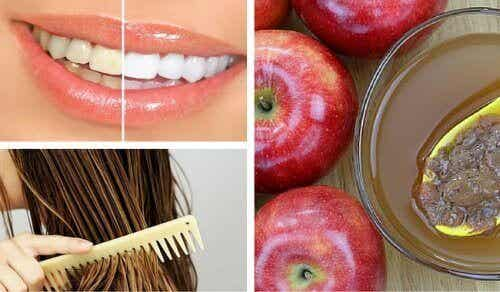Kosmetiska användningar för äppelcidervinäger