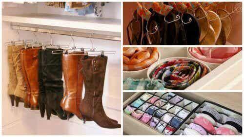 17 tips för att organisera garderoben och spara utrymme