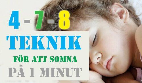 Vill du lära dig somna på 1 minut?