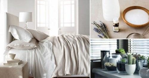 8 knep för att desinfektera sovrummet på ett naturligt sätt