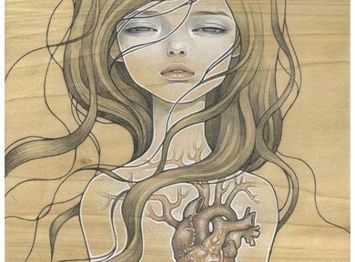 kvinna och hjärta