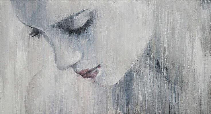 ledsen-kvinna