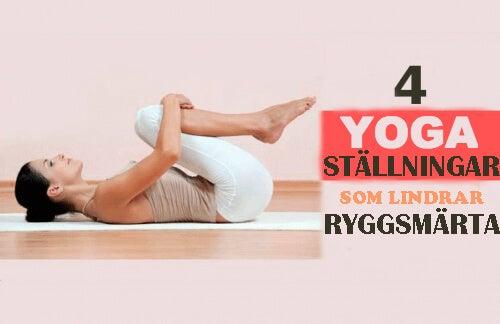 4 yogaställningar som lindrar ryggsmärta
