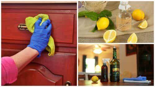 Hemgjort rengöringsmedel för att damma möbler