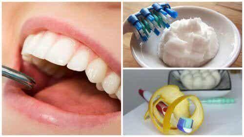 Ta bort plack från tänder med 5 huskurer